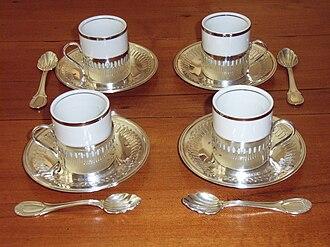 Demitasse spoon - Demitasse spoons with matching demitasse cups