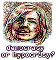 Democracy or Hypocrisy - Hillary Clinton illustration.jpg