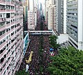 Demonstration against extradition bill aerial view from Wan Chai Hennessy Road 20190616.jpg