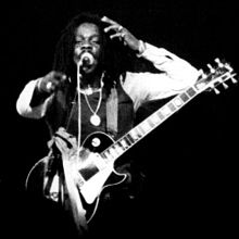 Dennis Brown performing in 1980