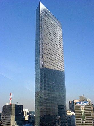 Shinbashi - The Dentsu Building in Higashi-Shinbashi