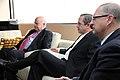 Desayuno de Trabajo del Sr. Canciller Ricardo Patiño con el Sr. Vicepresidente del Ecuador Lenin Moreno y José Miguel Insulza, secretario general de la OEA. (7171239706).jpg