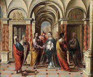 Matias de Arteaga - The Marriage of the Virgin by Matias de Arteaga, private collection, before 1703