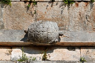 "Uxmal - Detail of the ""House of the Turtles"""