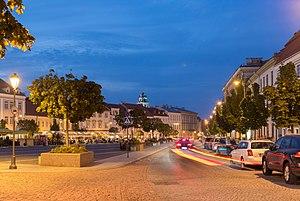 Didžioji Street at dusk, Vilnius, Lithuania - Diliff