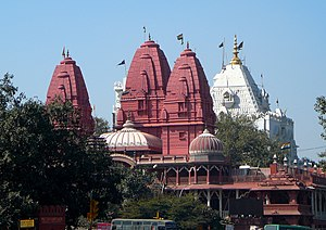 Jainism in Delhi - Digambar Jain Lal Mandir, Chandni Chowk, Delhi.