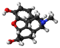 Dihydromorphine 3D ball.png