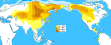 Distribution of Haplogroup C-M217 Y-DNA - worldwide.png