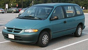 1996 Dodge Caravan photographed in USA.