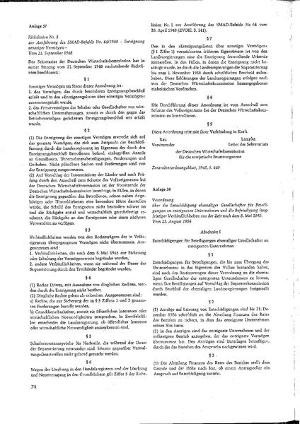 File:Dokument 37, Zentralverordnungsblatt Berlin, 1948, S. 449, Richtlinie Nr. 3 zur Ausführung des SMAD-Befehls.pdf