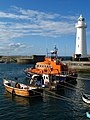 Donaghadee lighthouse and lifeboat - geograph.org.uk - 935168.jpg
