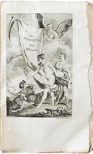 Claude Joseph Dorat - Image: Dorat les Prôneurs ou le Tartuffe littéraire faux titre EO Delalain 1777