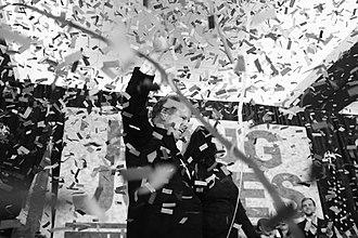 Doug Jones (politician) - Jones celebrating his U.S. Senate election victory