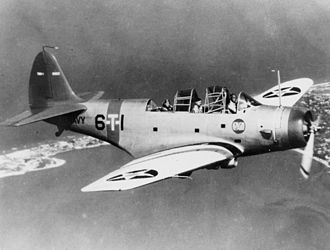 Against the Sun - Douglas TBD Devastator torpedo bomber from VT-6 before the Second World War, similar to the aircraft Dixon flew
