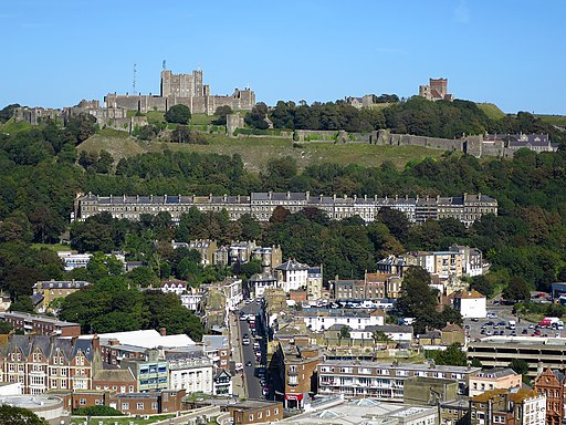 Dover Castle, from the Western Heights
