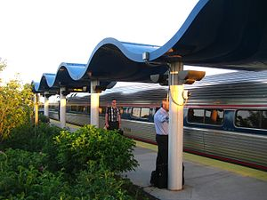 Downeaster at Portland Transportation Center, May 2010.jpg