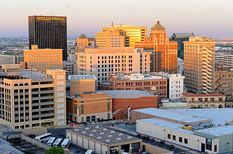 West Texas - Image: Downtown El Paso at sunset