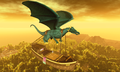 Dragon chained to a boat lifting it in the sky is this slavery or power (Second Life).png