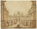 Drawing, Stage Design, Apollo with Famous Men and Muses, early 19th century (CH 18543425).jpg
