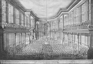 Opernhaus am Taschenberg - Interior of the court church in 1719