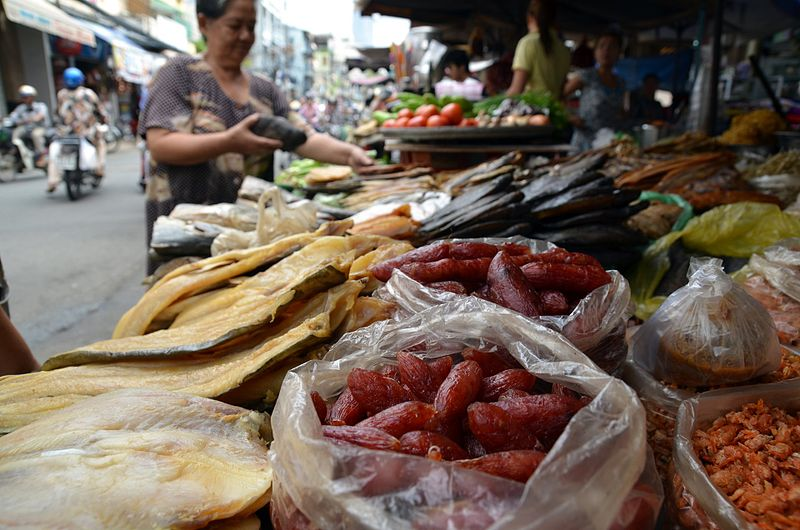 File:Dried food market Saigon.JPG