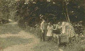 Mason, New Hampshire - Watering trough in 1909