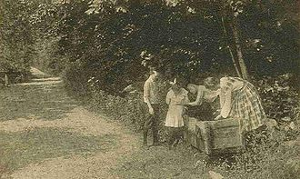 Mason, New Hampshire - Watering trough in 1909