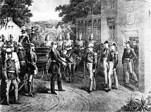 Battle of Sedan - Napoleon III surrenders his sword