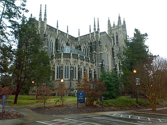 Duke Chapel - Rear view of chapel