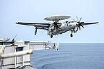 E-2C of VAW-117 takes off from USS Harry S. Truman (CVN-75) in September 2015.JPG