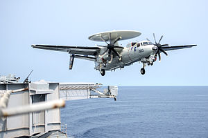 VAW-117 - Image: E 2C of VAW 117 takes off from USS Harry S. Truman (CVN 75) in September 2015
