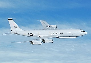 Northrop Grumman E-8 Joint STARS airborne ground surveillance aircraft based on Boeing 707 airframe