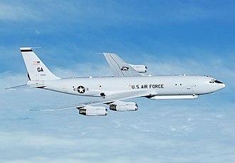 Northrop Grumman E-8 Joint STARS - A U.S. Air Force E-8C Joint STARS, in flight.