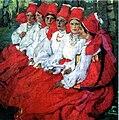 E.A. Kiselyova. Brides. Trinity day (1907).jpg