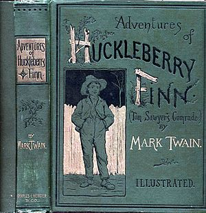 E. W. Kemble -  Adventures of Huckleberry Finn, illus. by Kemble (1st US ed., 1885)