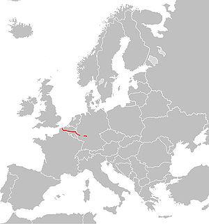 Europavej 42's strækning