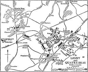 Jean-Baptiste Drouet, Comte d'Erlon - The old Roman road and d'Erlon Corps at 17:30 on 16 June