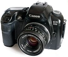 EOS D30 with Pentacon lens.JPG