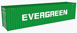 Evergreen Marine - Evergreen 40 foot shipping container