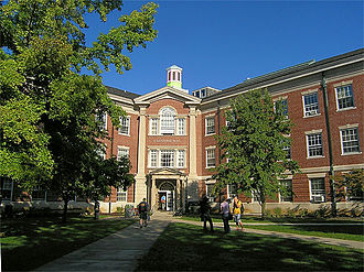 Richmond, Indiana - Carpenter Hall at Earlham College, founded in 1847.