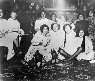 Women in an early San Francisco bordello in 1870 Early San Francisco prostitutes.jpg