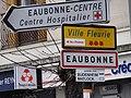 Eaubonne (Val-d'Oise) city limit sign.JPG