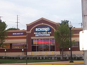 Eckerd Corporation - An Eckerd Pharmacy on August 4th, 2007 located in Rochester, Pennsylvania, built on the site of the childhood home of pop singer Christina Aguilera. The store officially converted to Rite Aid on August 31st, 2007.
