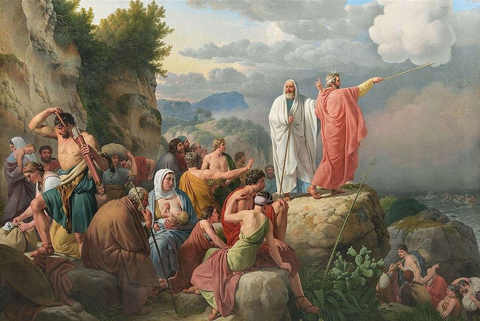 Eckersberg, CW - Moses lader Det Røde Hav vende tilbage og Faraos hær oversvømmes - 1815.jpeg