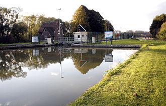 Abbécourt - The Oise Canal lock