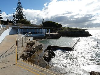 Edithburgh - Tidal seawater swimming pool at Edithburgh, South Australia