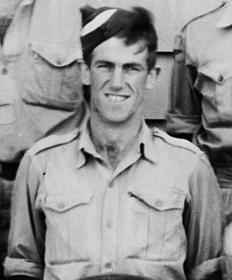 Edmund Hillary - Hillary in Royal New Zealand Air Force uniform, during World War II, at Delta Camp, near Blenheim, New Zealand.