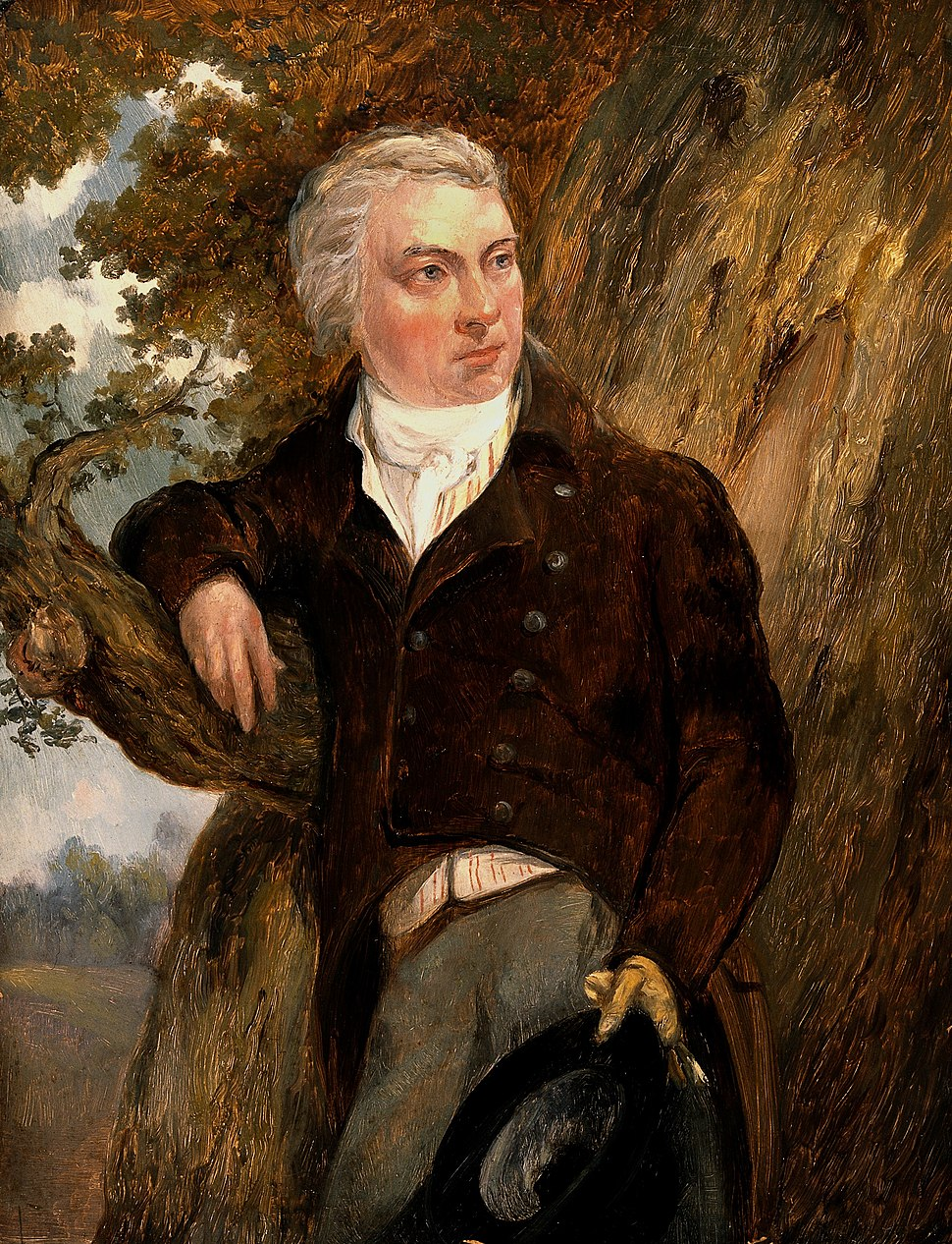 Edward Jenner, with a view of Berkeley, Glos. Oil painting a Wellcome V0017932