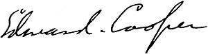 Edward Joshua Cooper - The Signature of Edward Joshua Cooper