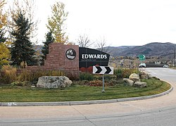 Roundabout in Edwards near Interstate 70.